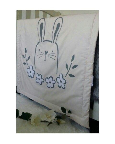 Floral Bunny cot quilt by my little Archoe