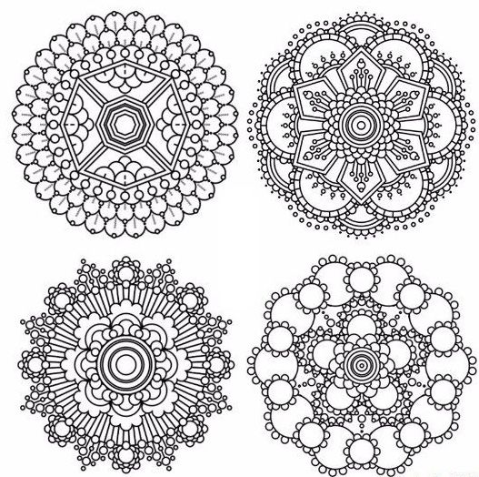 Mandala Coloring Pages Simple Mandala Coloring Coloring Pages Mandala Coloring Pages
