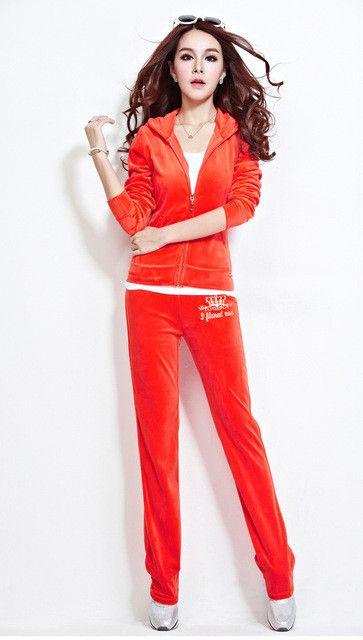CN Free Shipping Women's Brand Velvet Tracksuits,Women Velours Suits,Sport Tracksuits,sweatshirt Hoodies & Pants moletom jctm3a