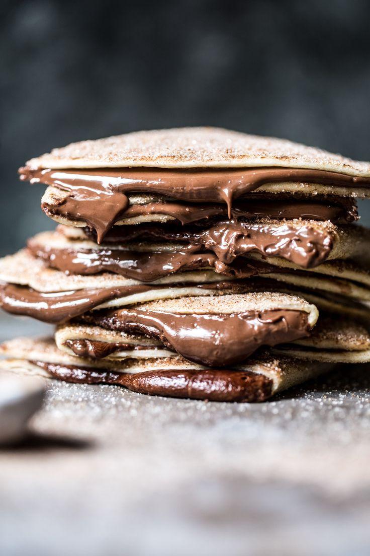 Cinnamon Sugar Nutella Quesadilla   halfbakedharvest.com @hbharvest. #Food #Foodgraphy #Foodporn #Foodartchef ❤*Maria