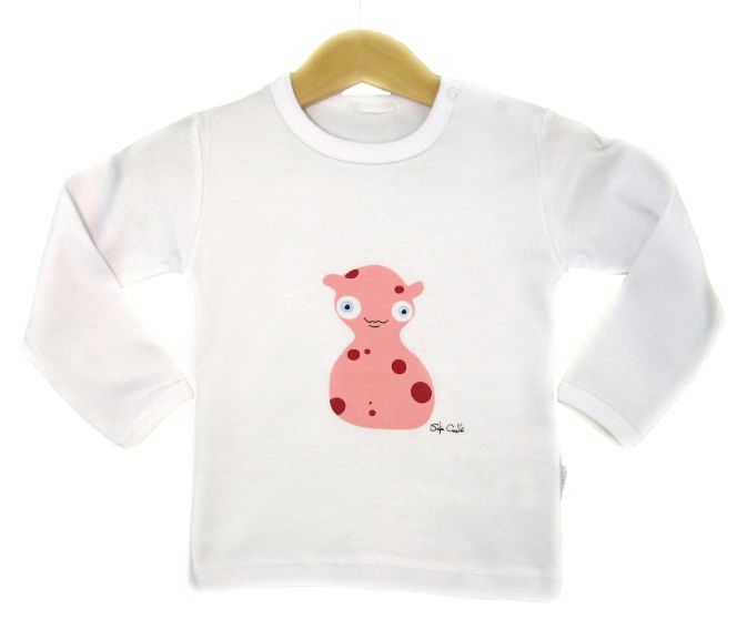 Long sleeved top in 100% certified organic cotton