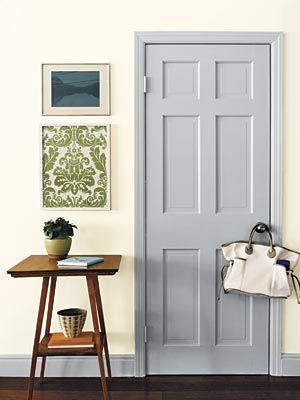 Paint Interior Doors  Tips and tricks: Changing the color of an interior door can take a room from drab to fab. But too much contrast between the door and the wall can be jarring, warns Filian. If your walls are bright, choose a similarly lively color for the door.