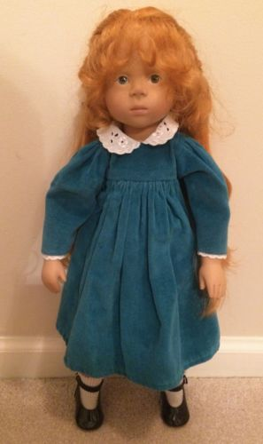 Dolls & Bears Top Zustand Brilliant Künstlerpuppe Vinyl Puppe 48 Cm