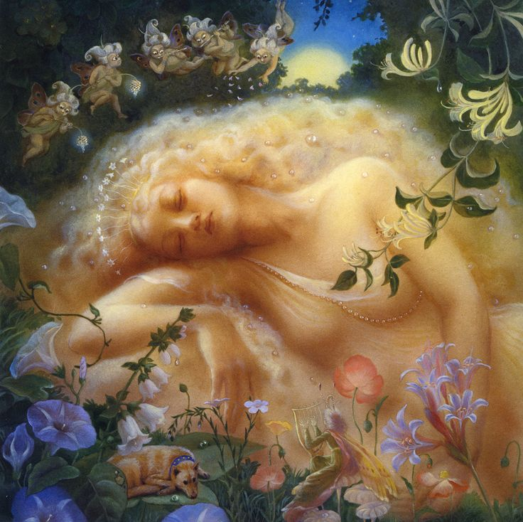 Lady In The Meadow By Kinuko Y Craft Art Print