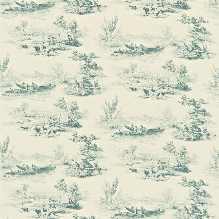 Zoffany - Luxury Fabric and Wallpaper Design | Products | British/UK Fabric and Wallpapers | The Boatmen (ZCHM05002) | Chantermerle Prints