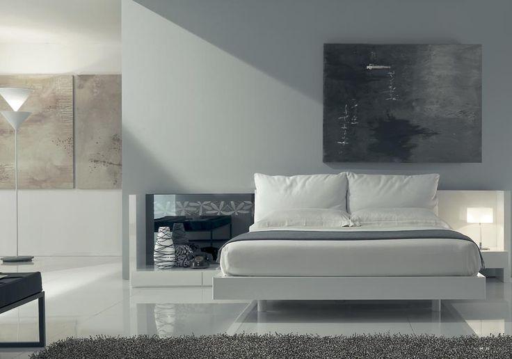 Camera da letto #totalwhite #interiordesign #napoli #fumante