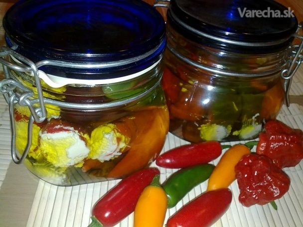 Chilli plnené syrom (fotorecept)