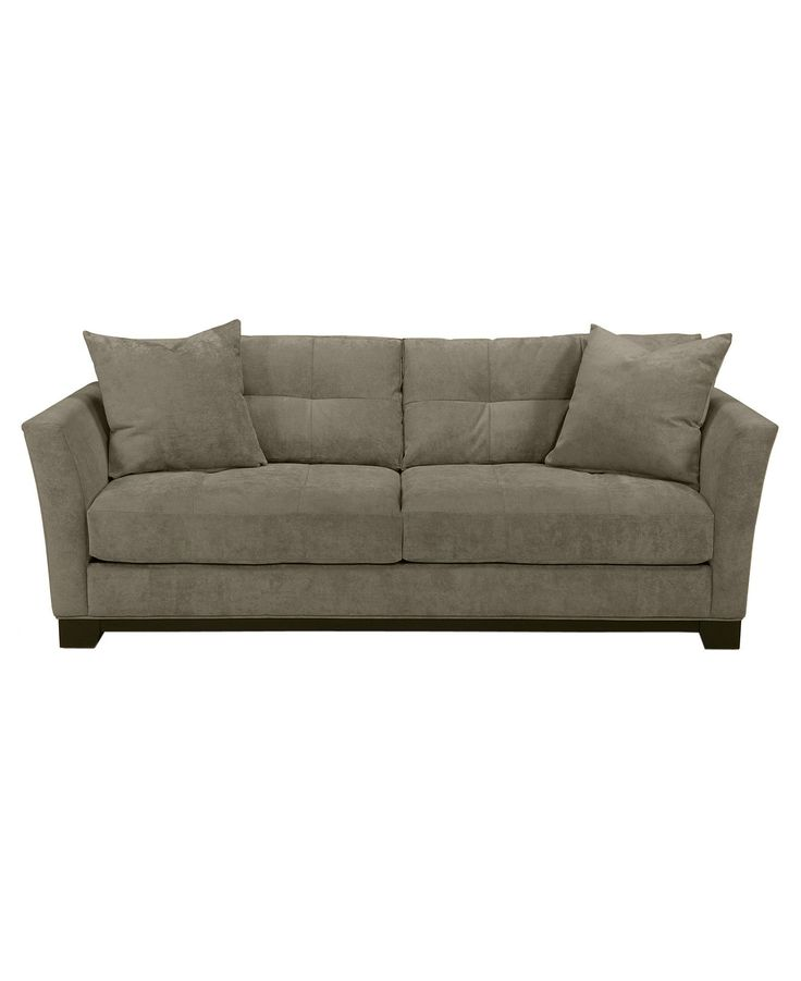 "Elliot Fabric Microfiber Sofa Bed, Queen Sleeper 90""W x 37""D x 29""H -  Macy's $999, 4"" innerspring & foam mattress"