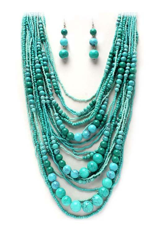 Classic Layered Turquoise Necklace