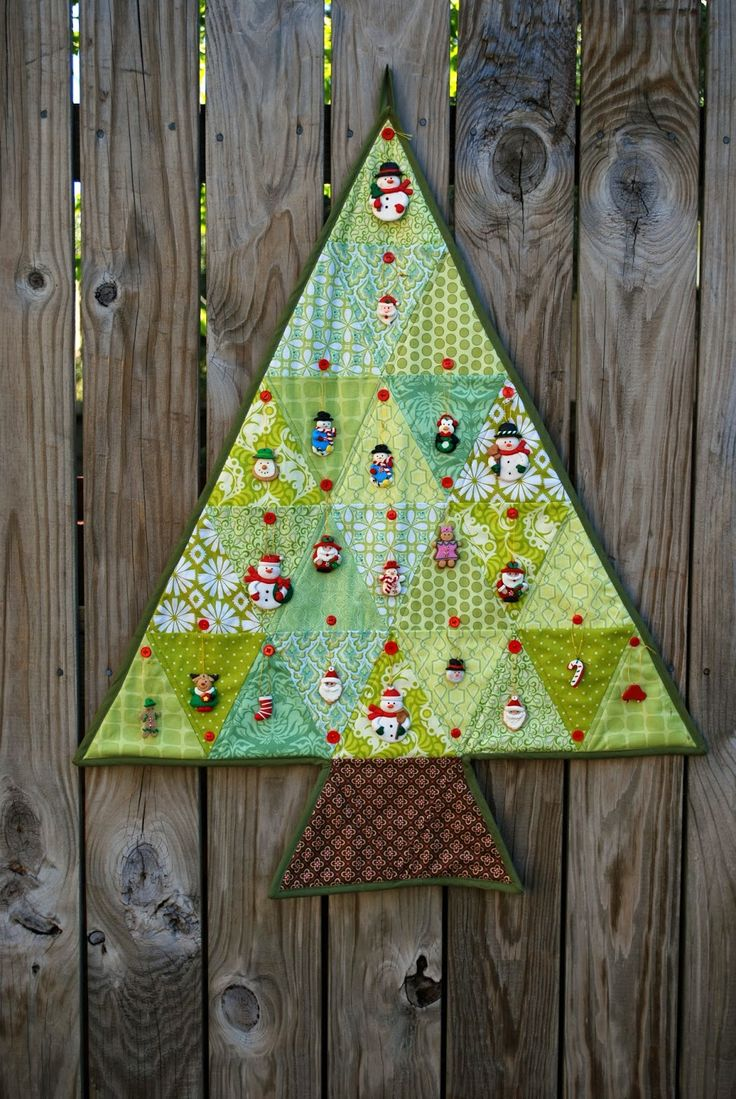 Quilted Christmas Advent Calendar Tutorial Hang An