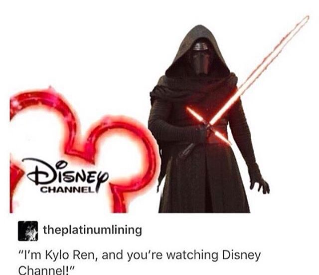 Dude, I would love it if this happened.. Like, Disney Channel actually playing The Force Awakens.. Disney does own Star Wars, so.. Maybe it could happen? XD