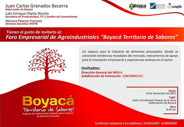 Hoy Foro Boyaca Territorio de Sabores en Gobernación de Boyaca