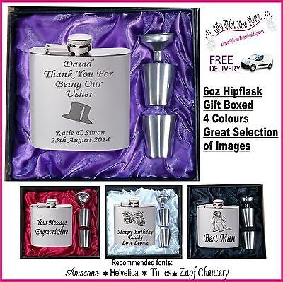 #Engraved hip flask best man - #usher - #groom gift boxed,  View more on the LINK: 	http://www.zeppy.io/product/gb/2/400144472030/