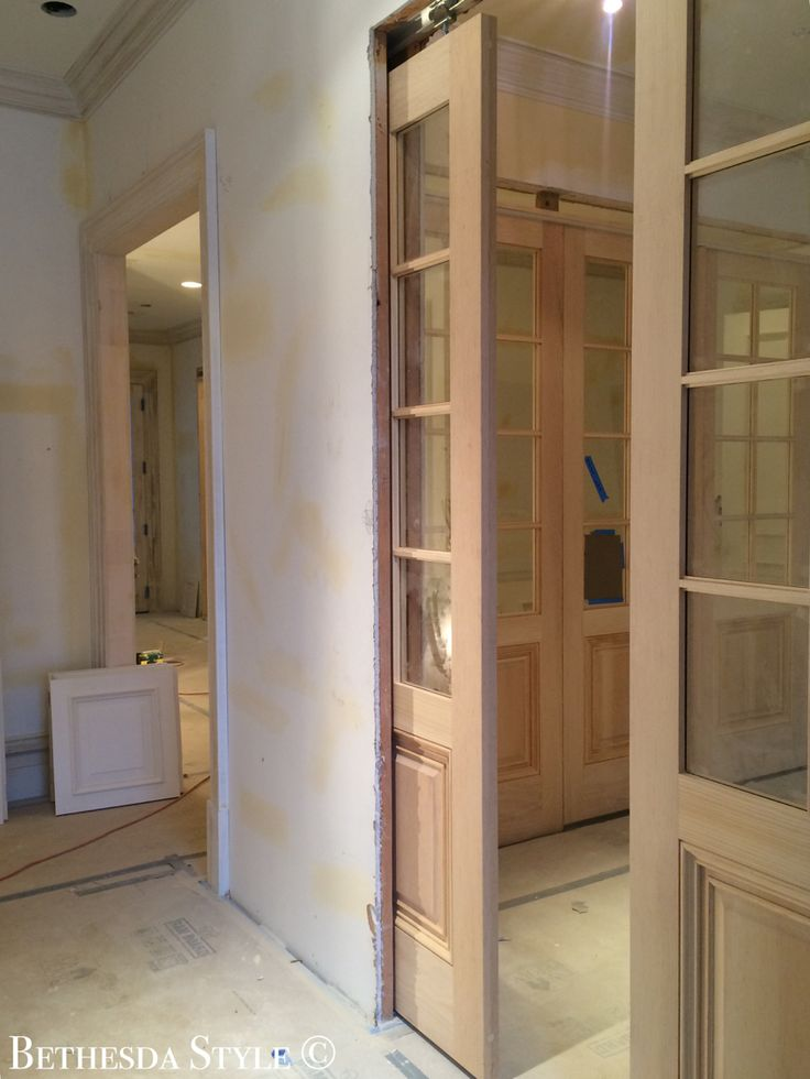 Bethesdastyle Mudroom Custom Pine Pocket French Doors