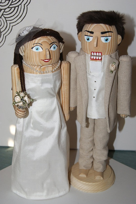 click here to order a hand made bride and groom nutcracker