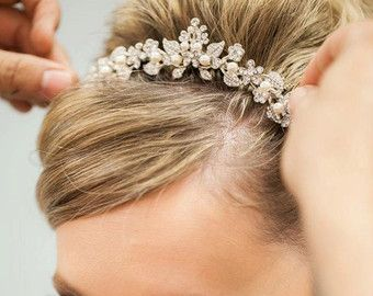 32_Flower crown Flower tiara Wedding hair accessories
