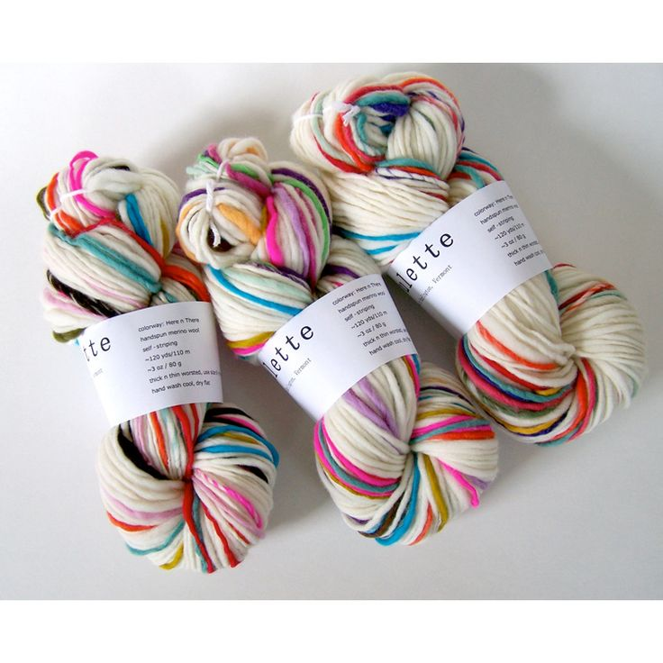 pretty yarn to knit with via bonnie tsang