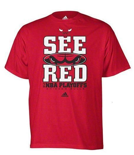 Men's Chicago Bulls 'See Red' NBA Playoffs T-Shirt By Adidas