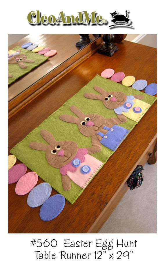 NOT A FINISHED PRODUCT. This pattern will make one penny rug as pictured and described below. Colored eggs and cute bunnies are a sure sign