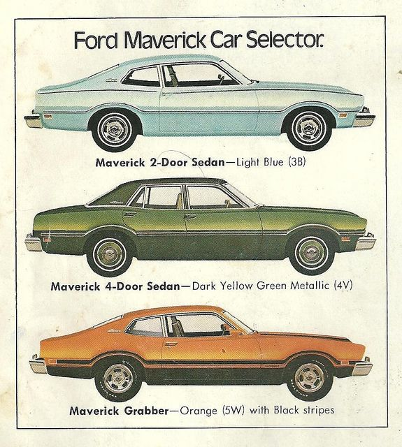 Ford Maverick 1974 The Sedan just looks weird.