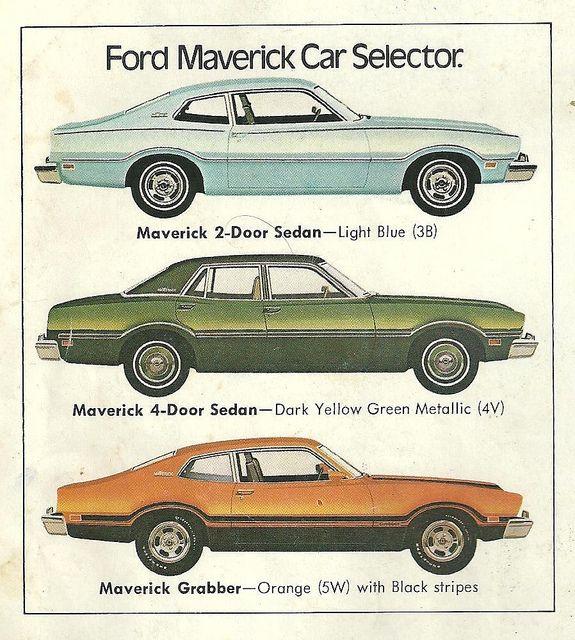 Ford Maverick 1974 The Sedan just looks weird.