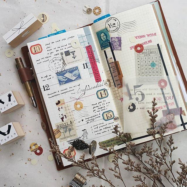 Week 15/2017 #midori #travelersnotebook #travelersfactory #journallover #journal #keepanotebook #keepwriting #stationeryaddict #loveforstationery #loveforpaper #手帐