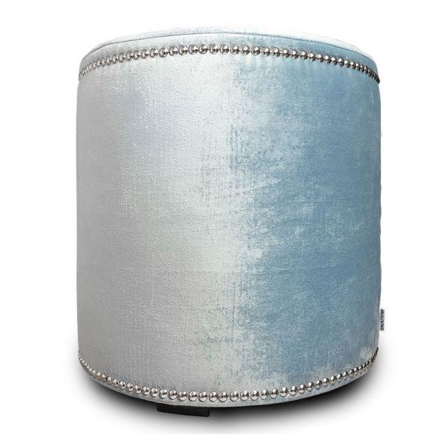 Velvet Glamour Pastel Blue Pouf #poufs #interiors #homedecor #mialiving