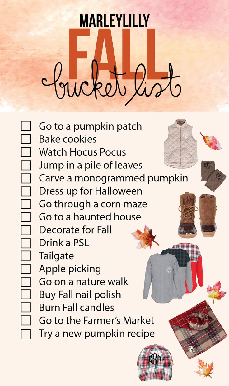 It's time for Fall meaning it's time for endless activities to be done in the…
