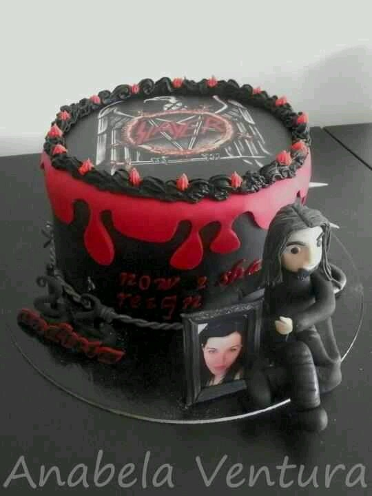 The  Best Images About Brocks Birthday Ideas On Pinterest - Slayer birthday cake