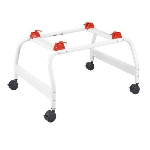 Wenzelite Optional Shower Stand for Otter Pediatric Bathing System, White  Add height for easier use and wheels for safe mobility with a shower stand for the #Wenzelite #Otter #Bathing #system.The quick-release locks securely hold the bath seat in place and allow for quick connection and disconnection.