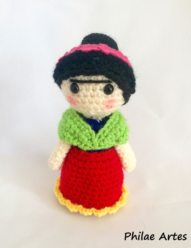 Amigurumi Frida Kahlo - FREE Crochet Pattern / Tutorial