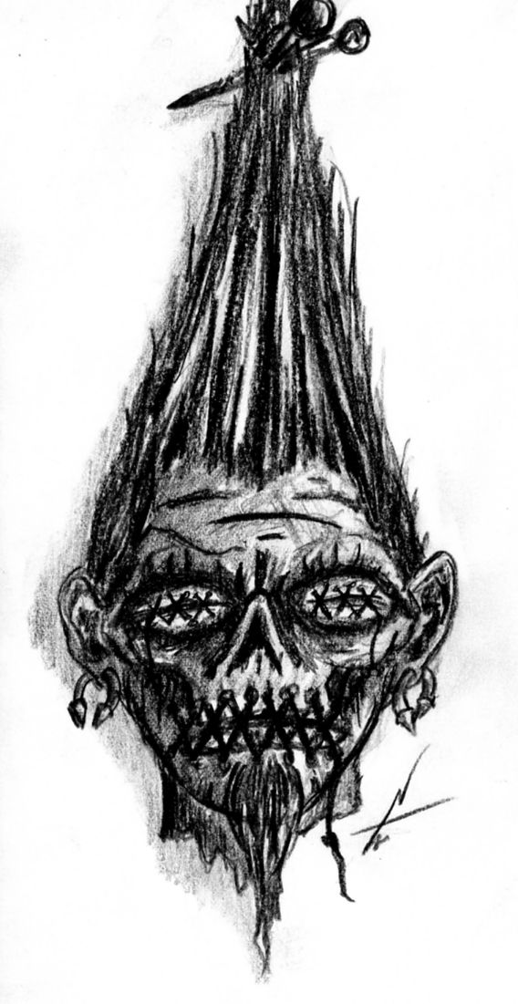 Shrunken head Tattoo design by NelsonTWaters.deviantart.com on @deviantART