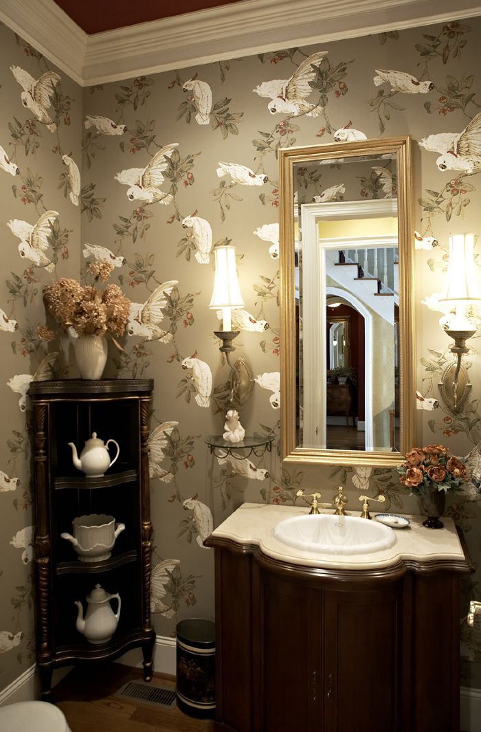 bathroom with wallpaper ideas wallpaper ideas you wanted to perk up a tired 16222