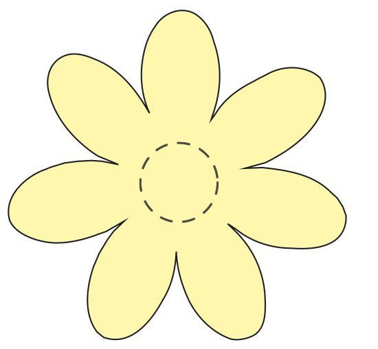 Best 25 flower applique patterns ideas on pinterest for Daisy cut out template