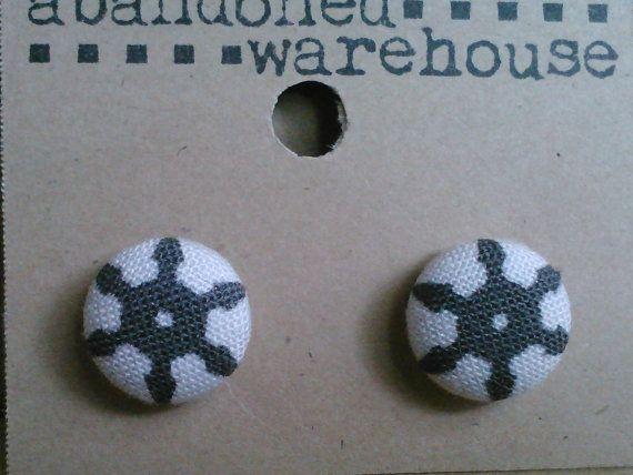 Shuriken post earrings by Abandoned Warehouse
