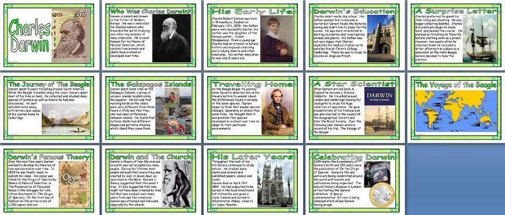 KS1 and KS2 History Teaching Resource - Victorian Times - Charles Darwin Biography printable classroom display posters for primary schools