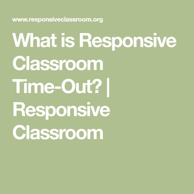What is Responsive Classroom Time-Out? | Responsive Classroom