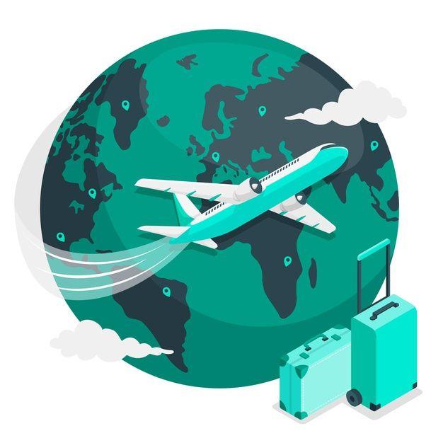 Ilustración Del Concepto De Volando Alre Free Vector Freepik Freevector Fly Around The World Illustration Vector Free