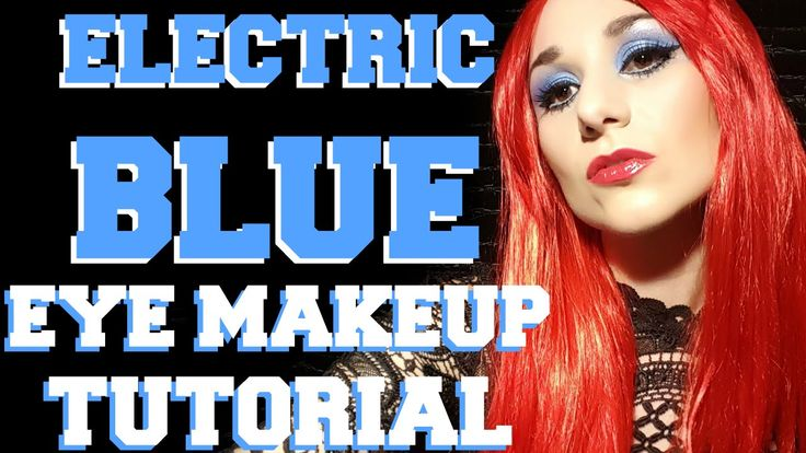 Electric Blue Eye Makeup Tutorial - Sex and Candy Cosplay Look