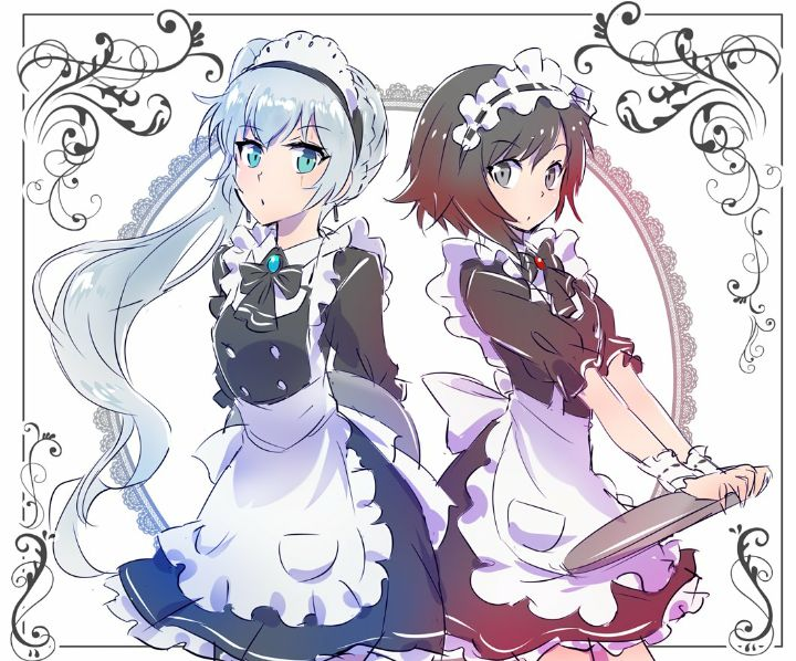 RWBY: Waitresses - Weiss & Ruby