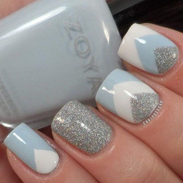 Beautiful nails 2016, Geometric nails, January nails, Mysterious nails, New Year…