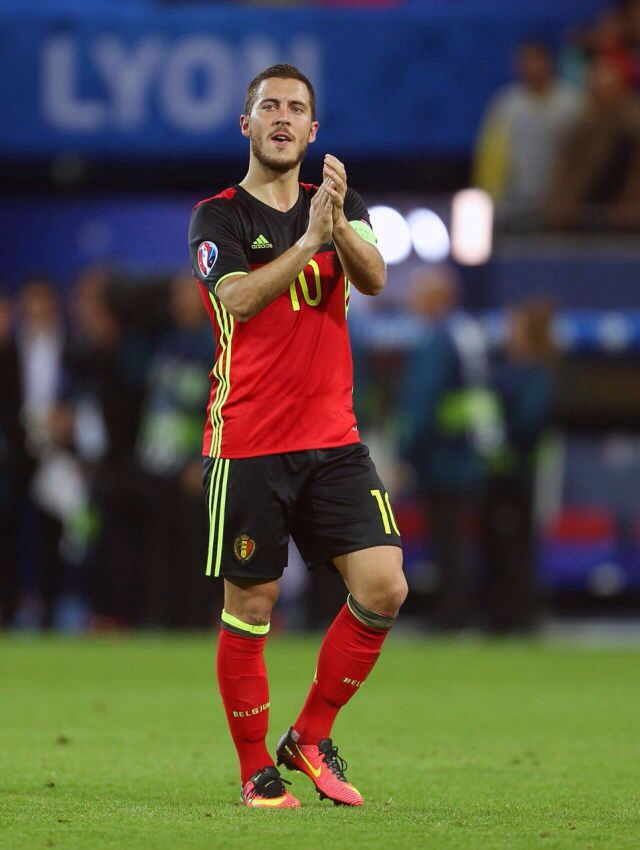 Eden Michael Hazard is a Belgian professional footballer who plays for English club Chelsea and the Belgium national team. He primarily plays as an attacking midfielder and as a wide midfielder.  Born: 7 January 1991 (age 26), La Louvière, Belgium Height: 1.73 m Spouse: Natacha Van Honacker (m. 2012) Salary: 10.4 million GBP (2015) Siblings: Thorgan Hazard, Kylian Hazard, Ethan Hazard Current teams: Chelsea F.C. (10 / Midfielder, Forward), Belgium national football team (Midfielder, Forward)