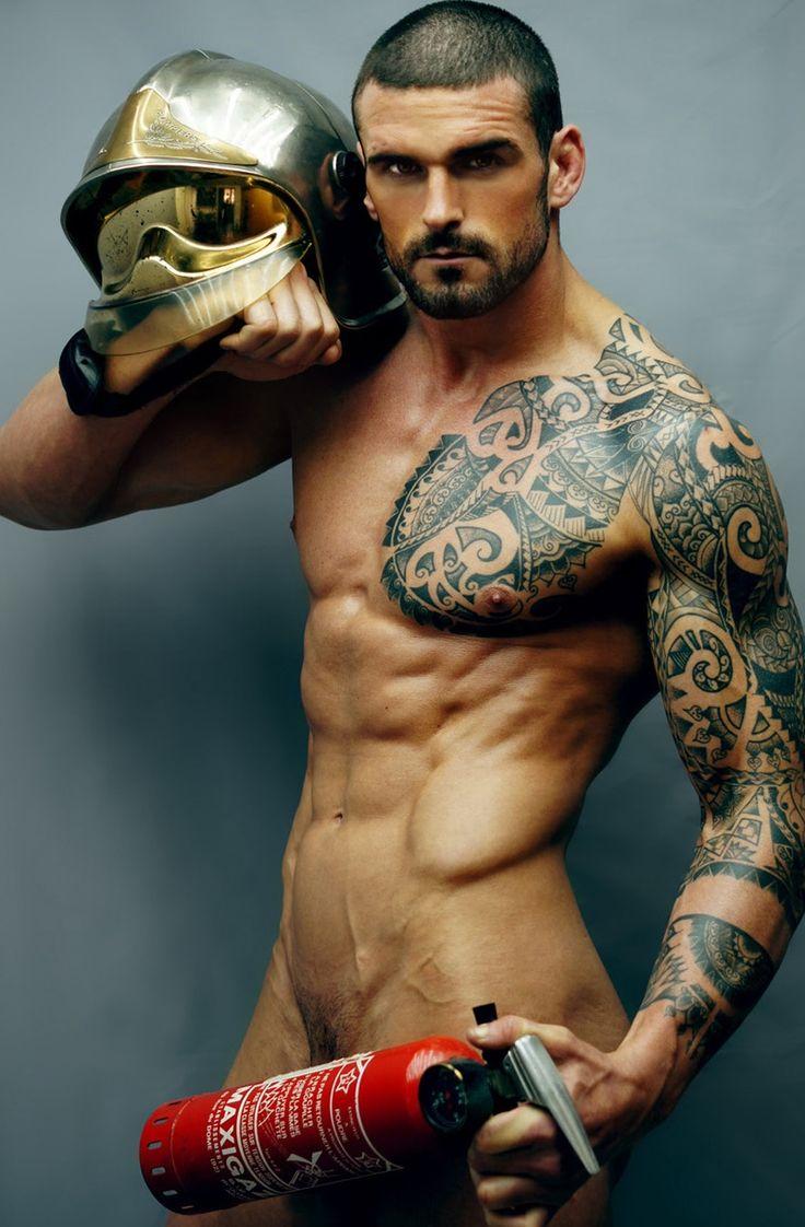 Tattoed gay men
