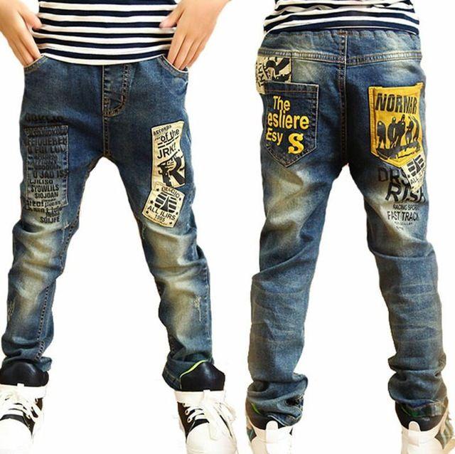 Niños jeans para niños de moda de alta calidad, ajuste delgado Coreano pantalones vaqueros para niños, bebé pantalones de los muchachos, niños niño jeans Envío Gratis