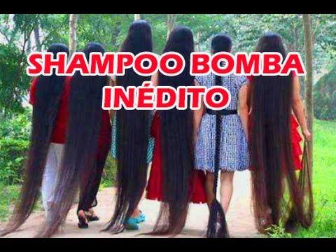 Como fazer o CABELO CRESCER MAIS RÁPIDO SHAMPOO BOMBA Natural por Nina D...