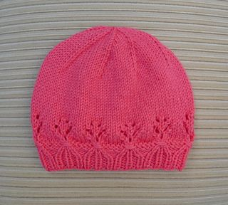 This cute hat is made in the round and does not have a seam.