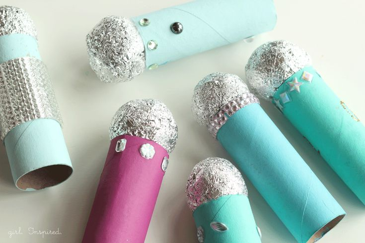 girl. Inspired.: Microphone Craft Party Activity...great craft for kiddos to make while at the party!