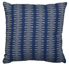Vackert mönstrad blå kudde. Hoya