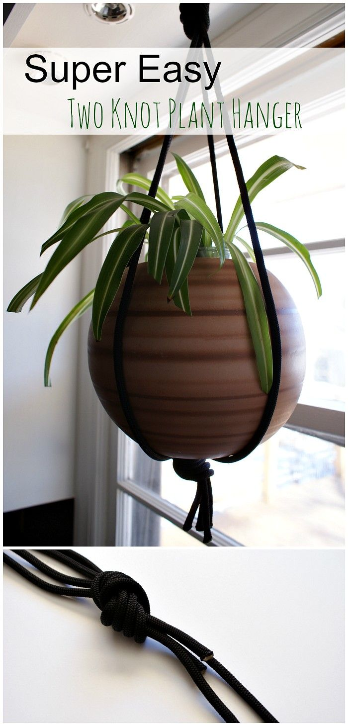 How To Make A Modern Macrame Style Plant Hanger Using