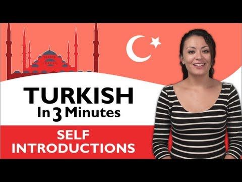 Learn Turkish - Turkish in Three Minutes - Thank You & You're Welcome in Turkish - YouTube